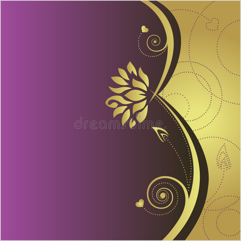 Fond abstrait floral illustration stock