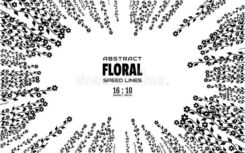 Fond abstrait floral avec l'espace pour le texte Rayons radiaux de centre de cadre avec l'explosion d'effet Calibre pour la conce illustration de vecteur