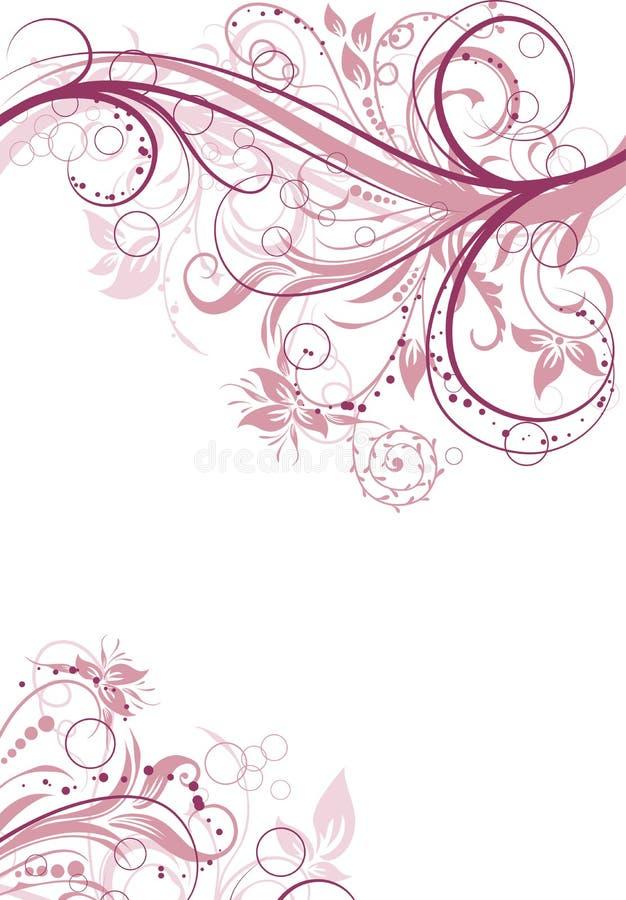 Fond abstrait floral, vecteur illustration stock