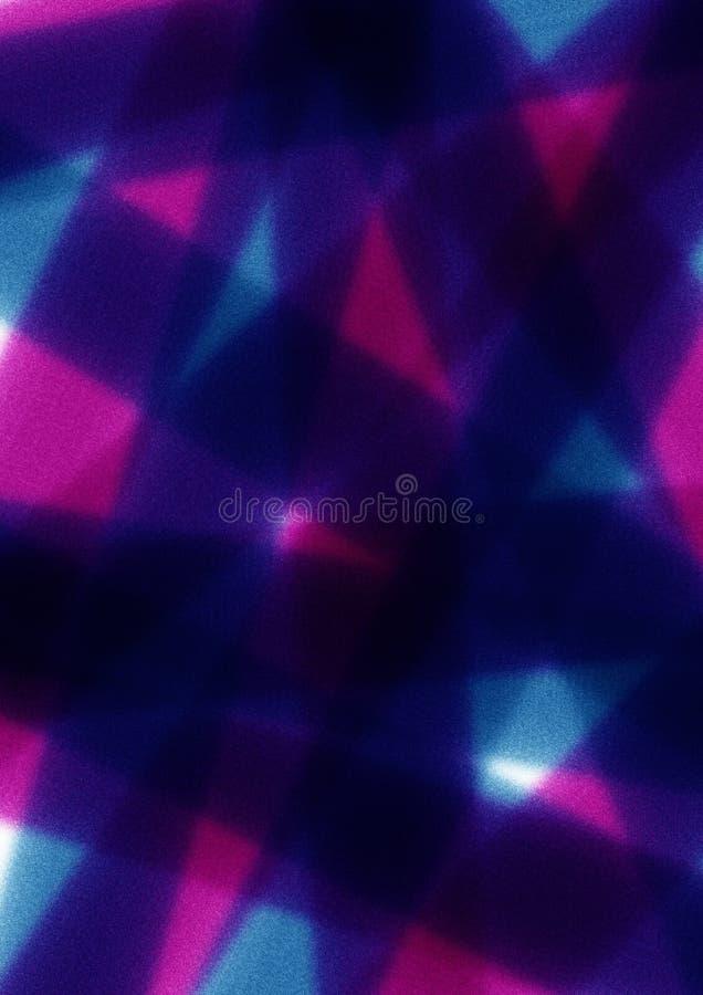 Fond abstrait foncé avec des traçages dans des couleurs bleues, violettes et roses illustration stock
