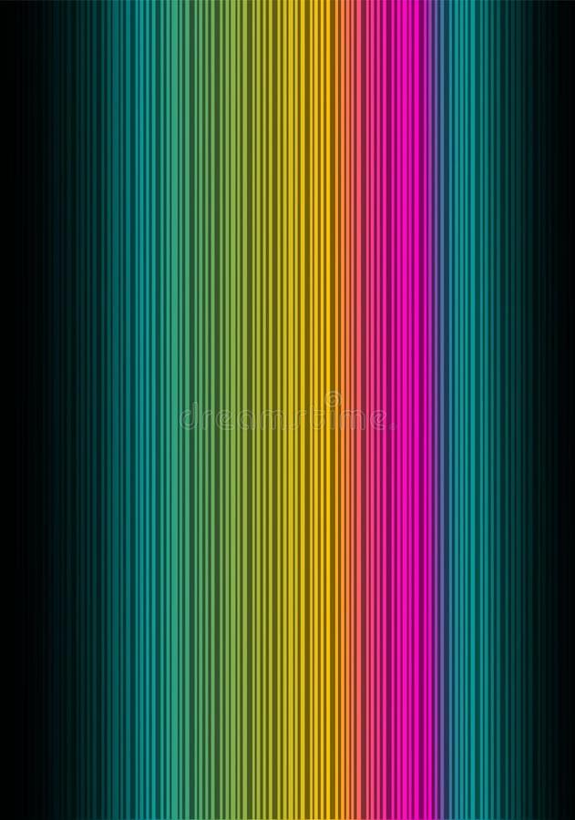 Fond abstrait foncé de spectre. Vertical. illustration libre de droits