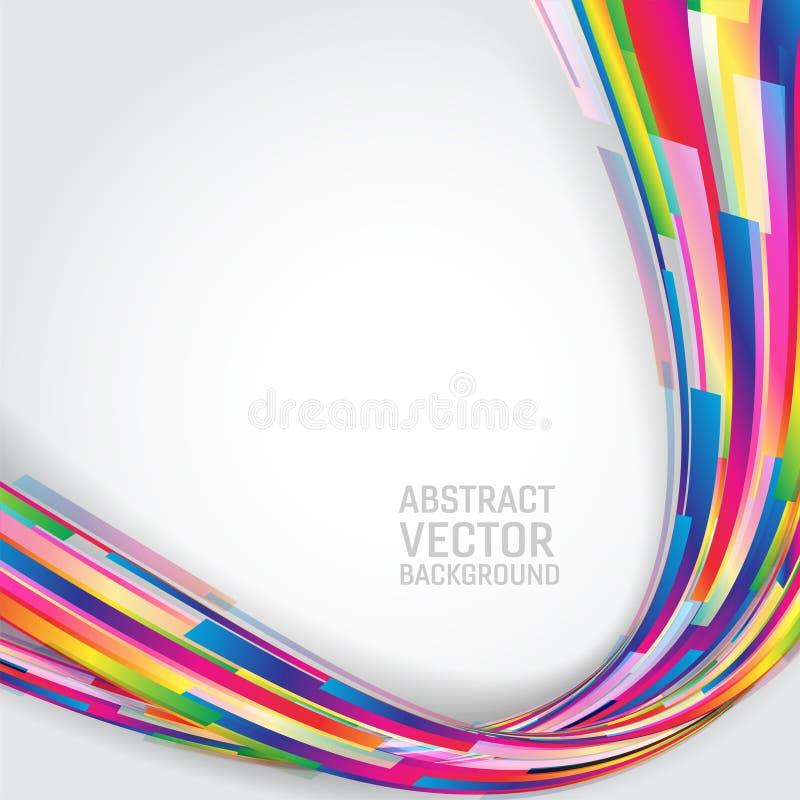 Fond abstrait géométrique coloré multi avec l'espace de copie Illustration de vecteur illustration stock
