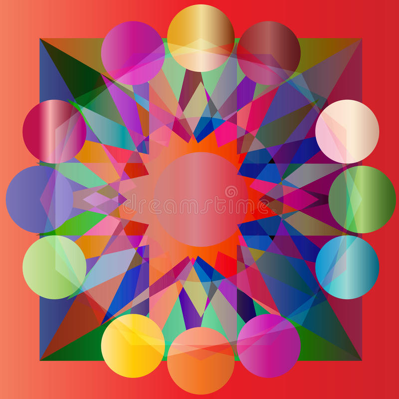 Fond abstrait géométrique coloré par vecteur image stock