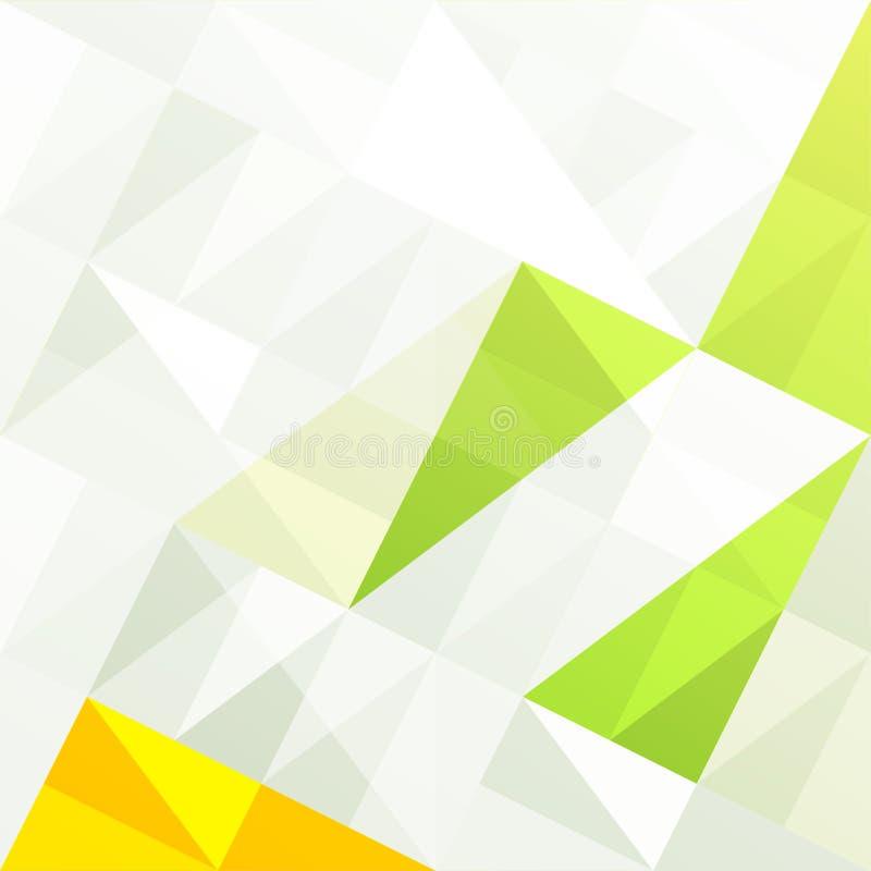 Fond abstrait géométrique de gamme verte illustration libre de droits