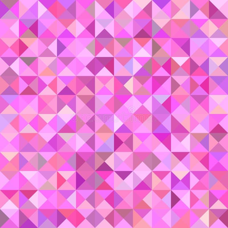 Fond abstrait géométrique de modèle de mosaïque de triangle - graphique de vecteur illustration libre de droits