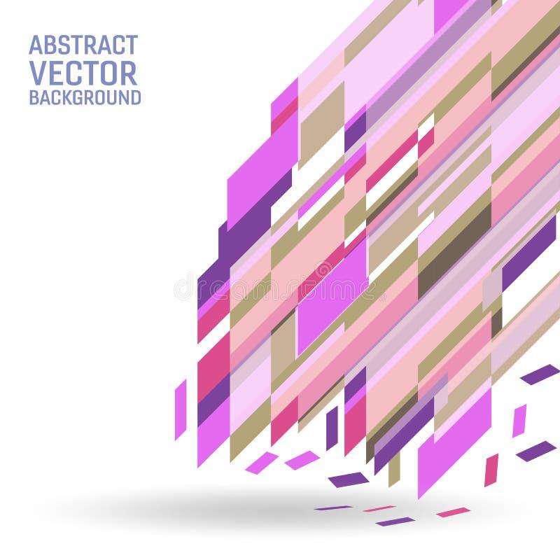 Fond abstrait géométrique de vecteur multicolore Texture de fond avec la conception d'espace de copie pour vos affaires illustration stock