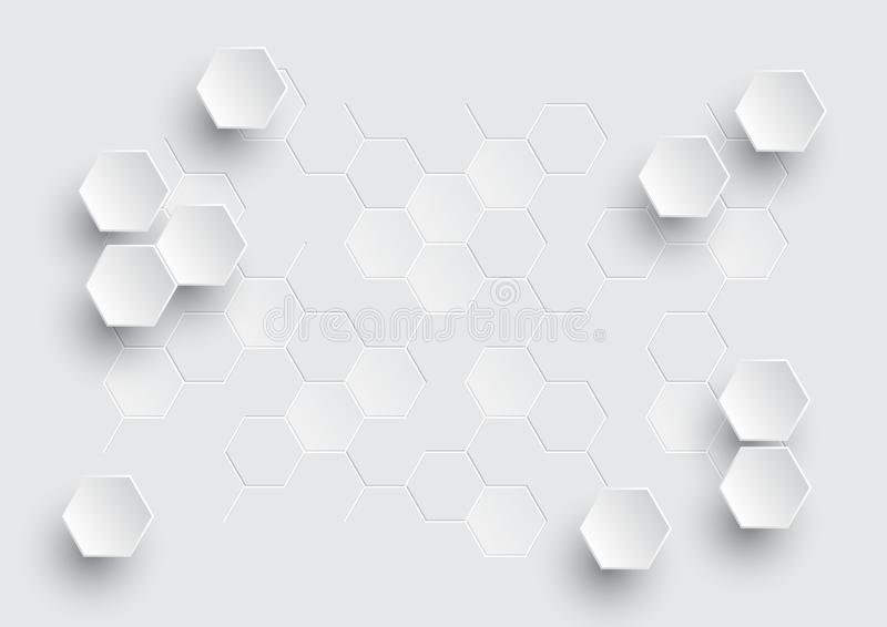 Fond abstrait géométrique hexagonal, conception minimale illustration libre de droits