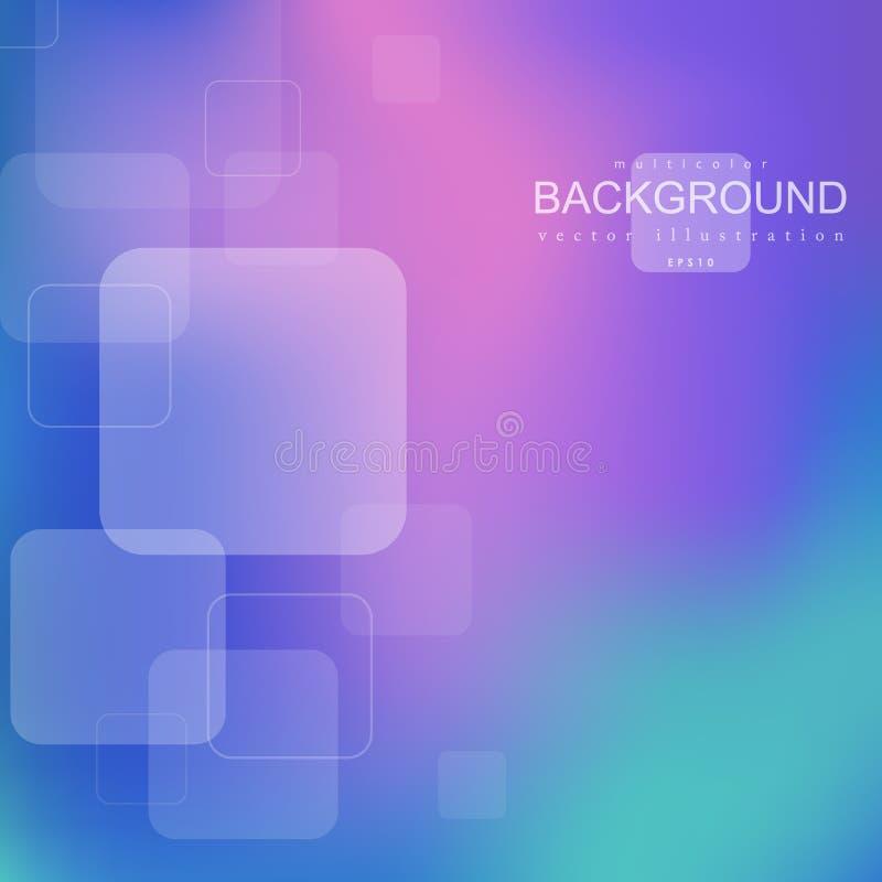 Fond abstrait géométrique lumineux avec des formes carrées illustration stock