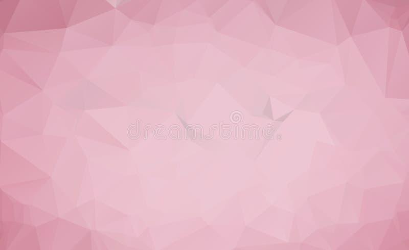 Fond abstrait géométrique moderne de vecteur rose-clair, multicolore, calibre de mosaïque de triangle de vecteur d'arc-en-ciel illustration stock