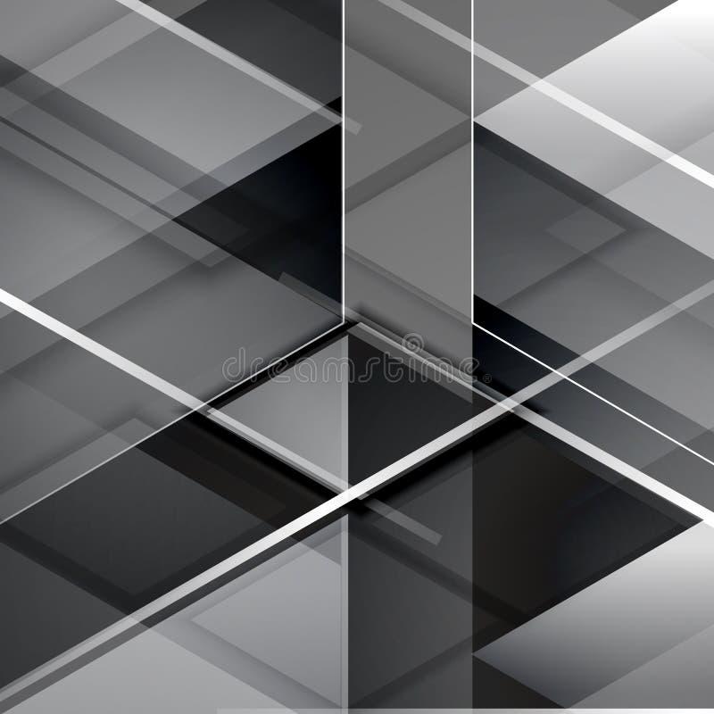 Fond abstrait géométrique moderne noir illustration de vecteur