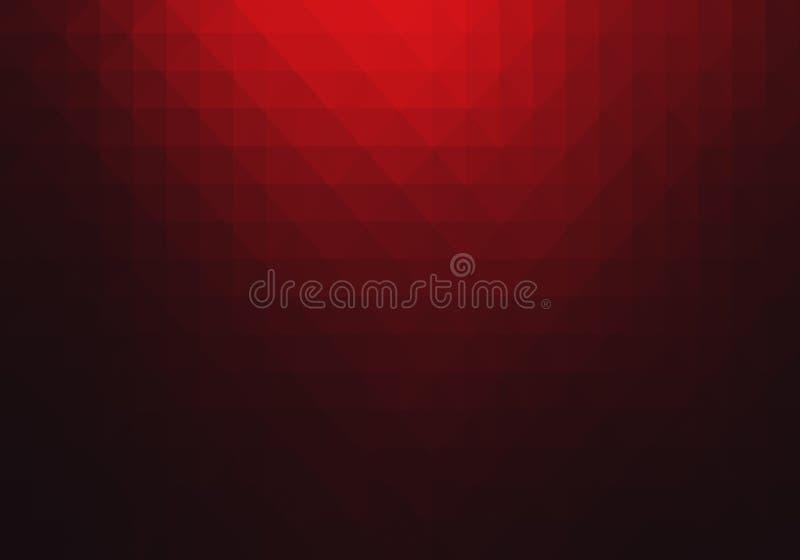 Fond abstrait géométrique rouge illustration stock