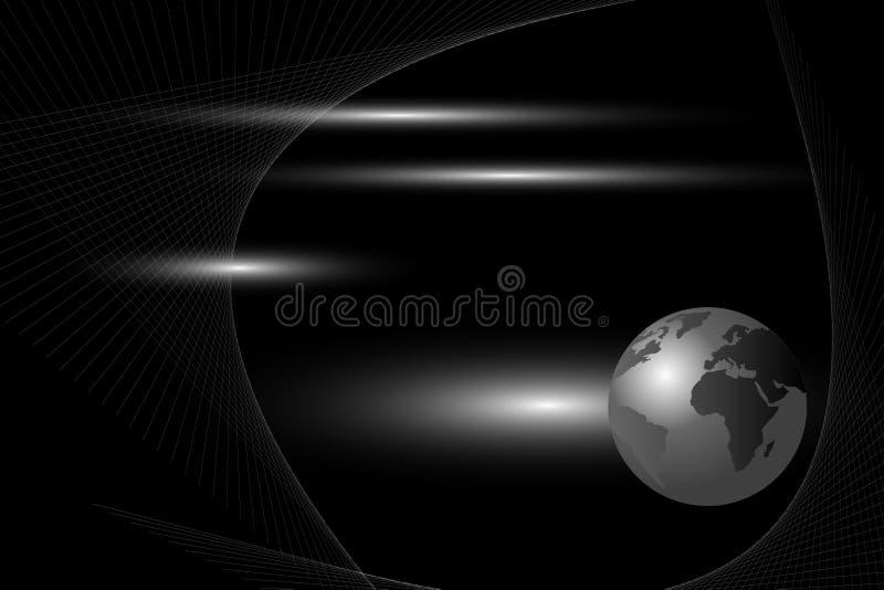 Fond abstrait - globe du monde illustration libre de droits