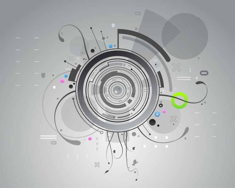 Fond abstrait gris illustration libre de droits