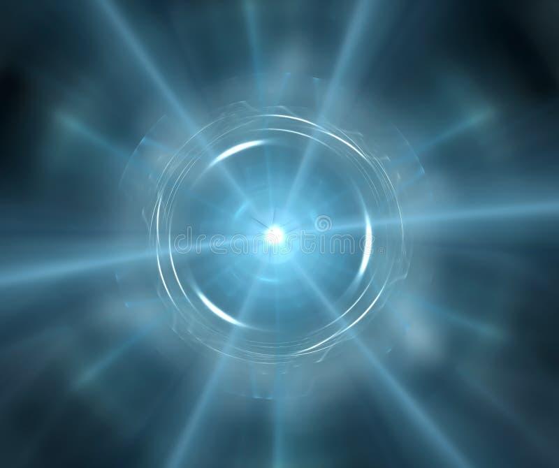 Fond abstrait gris avec l'étoile de turquoise ou le textur d'explosion illustration stock