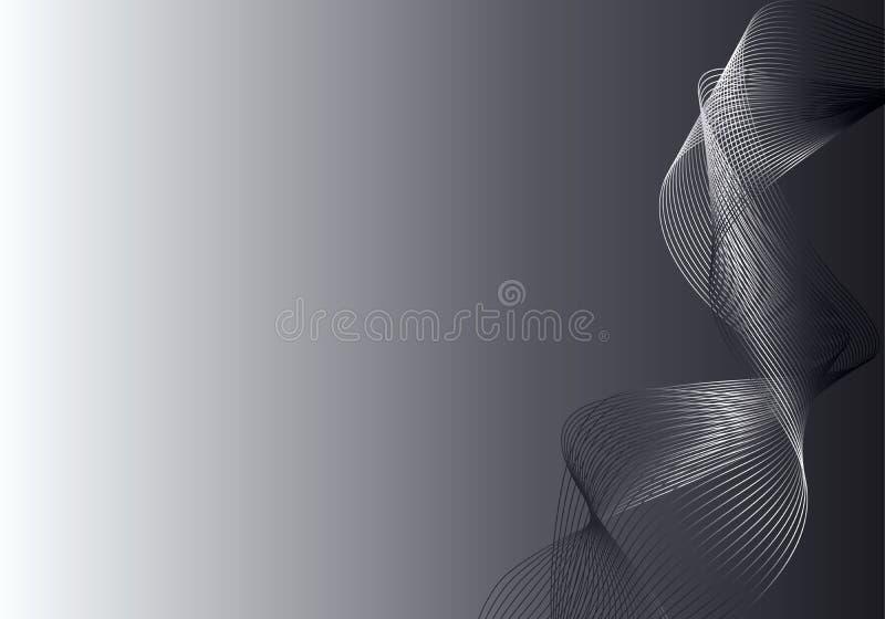 Fond abstrait gris et argenté illustration libre de droits
