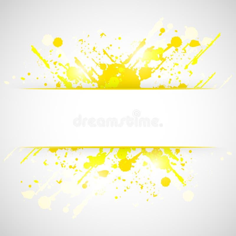 Fond abstrait grunge jaune d'éclaboussure illustration de vecteur