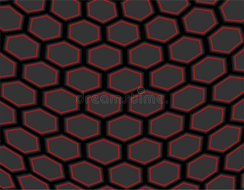 Fond abstrait hexagonal de futur nid d'abeilles illustration stock
