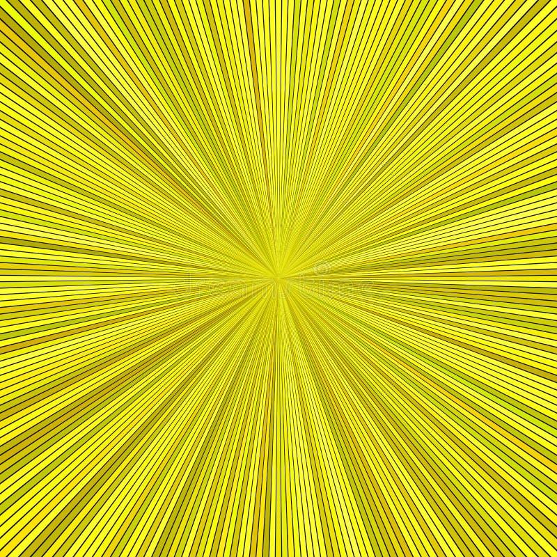 Fond abstrait hypnotique jaune de rayure d'éclat d'étoile illustration stock