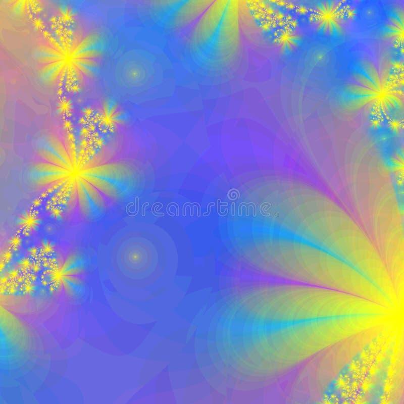 Fond abstrait illuminé par les étoiles illustration libre de droits