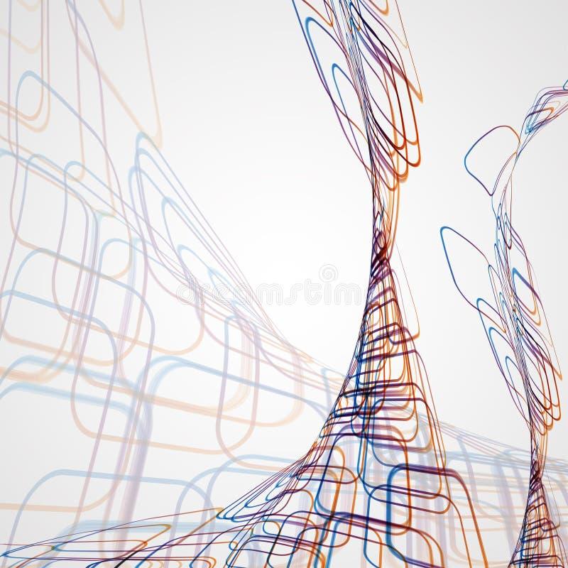 Fond abstrait, illustration futuriste illustration de vecteur