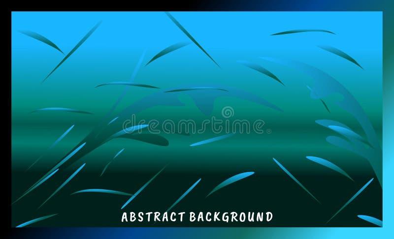 Fond abstrait, illustration sous-marine d'ambiance illustration de vecteur
