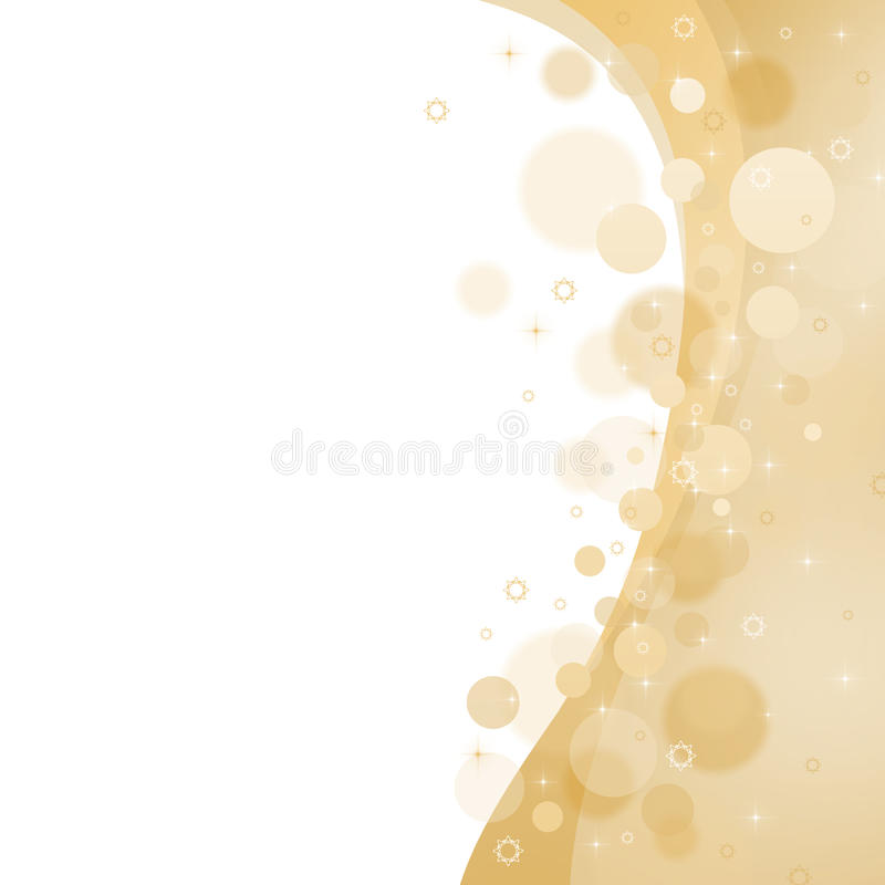 Fond abstrait jaune de Noël illustration stock