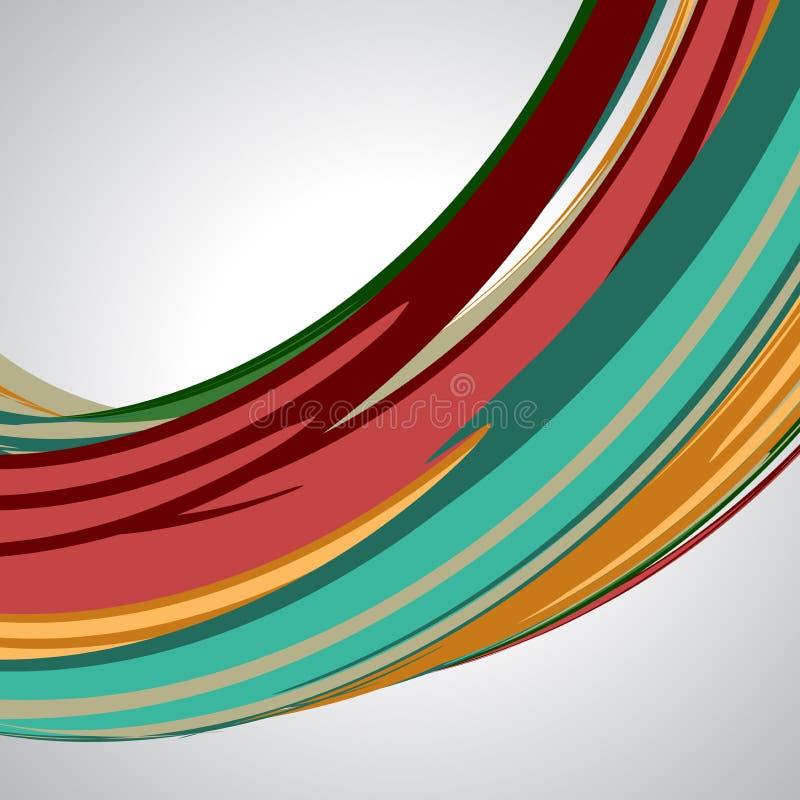 Fond abstrait, lignes de tourbillonnement, vecteur coloré illustration libre de droits
