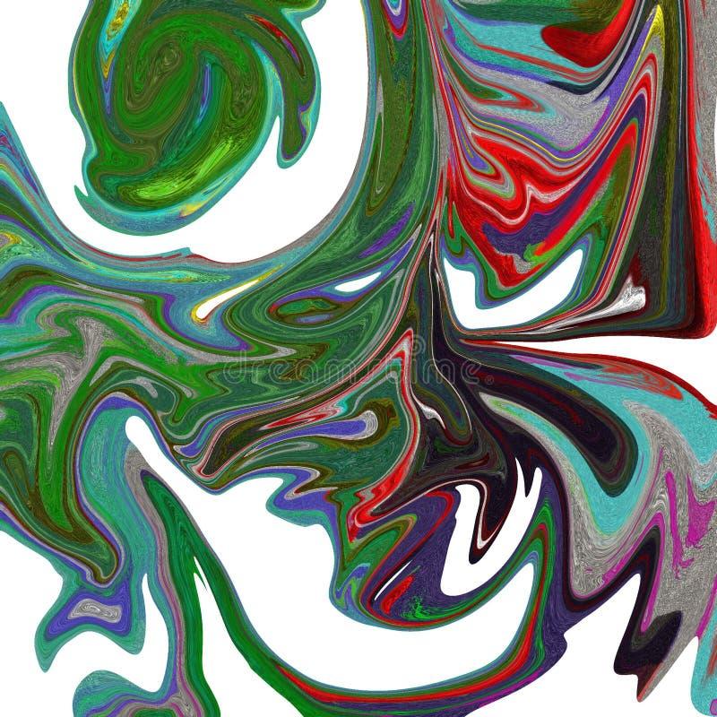 fond abstrait liquide avec des filets de peinture ? l'huile illustration de vecteur