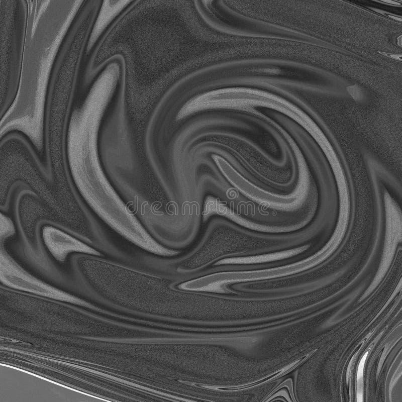 Fond abstrait liquide de marbre avec des filets de peinture à l'huile illustration libre de droits