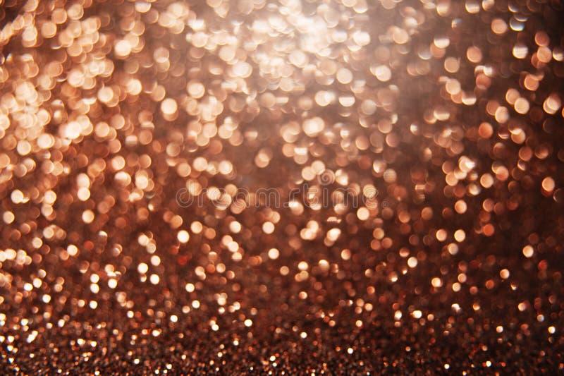 Fond abstrait lumineux de bokeh de Brown photographie stock