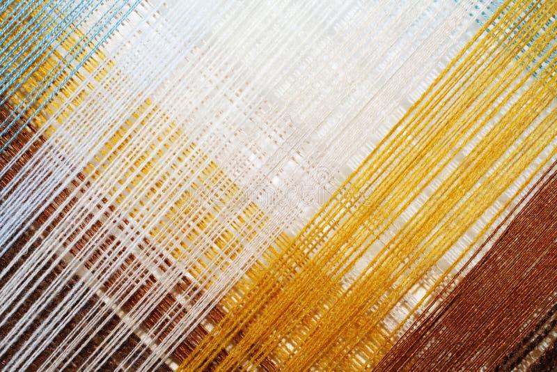 Fond abstrait lumineux de fil coloré photo stock