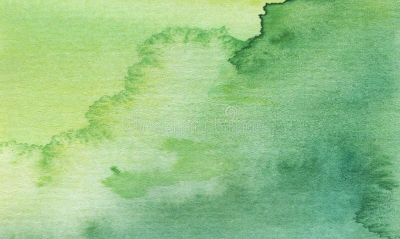 Fond abstrait lumineux de vert d'aquarelle images libres de droits