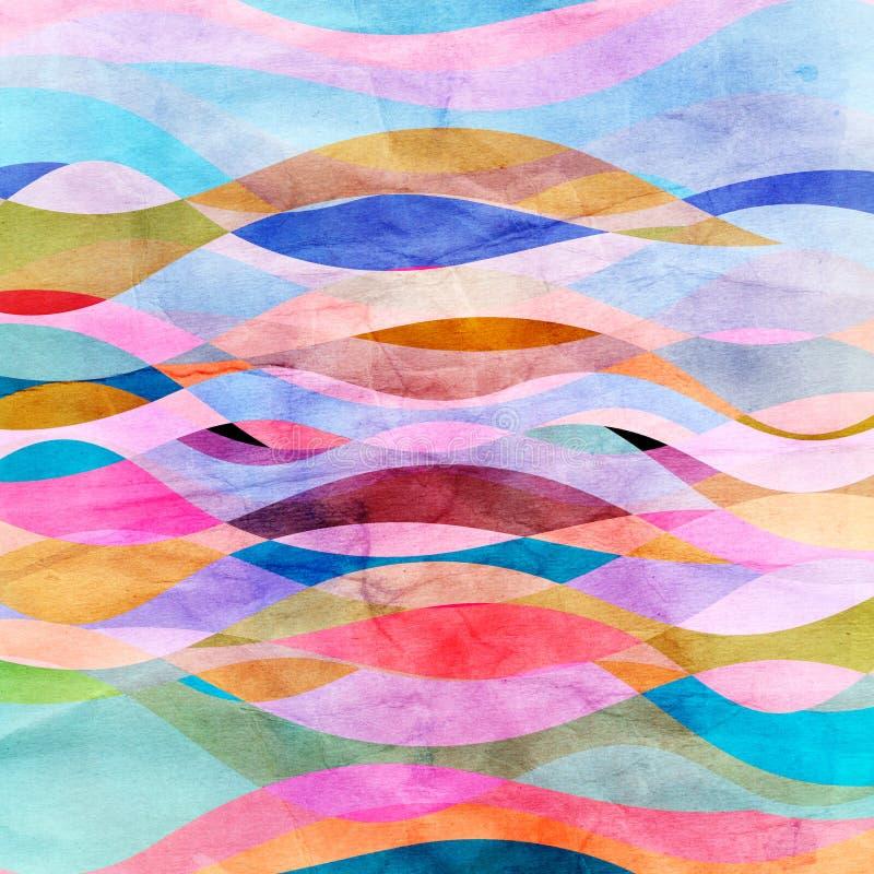 Fond abstrait lumineux des vagues illustration de vecteur