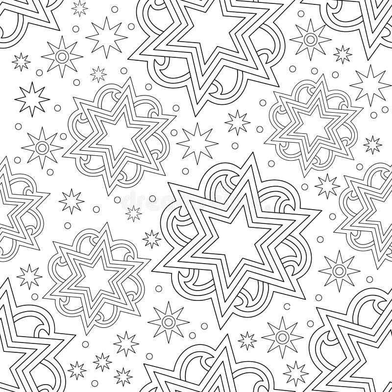 Fond abstrait lumineux sans couture d'étoile illustration libre de droits