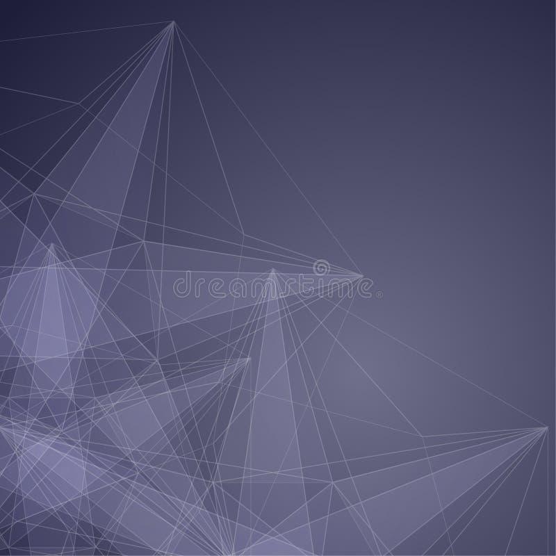 Fond abstrait moderne avec la maille transparente et le l rougeoyant illustration libre de droits