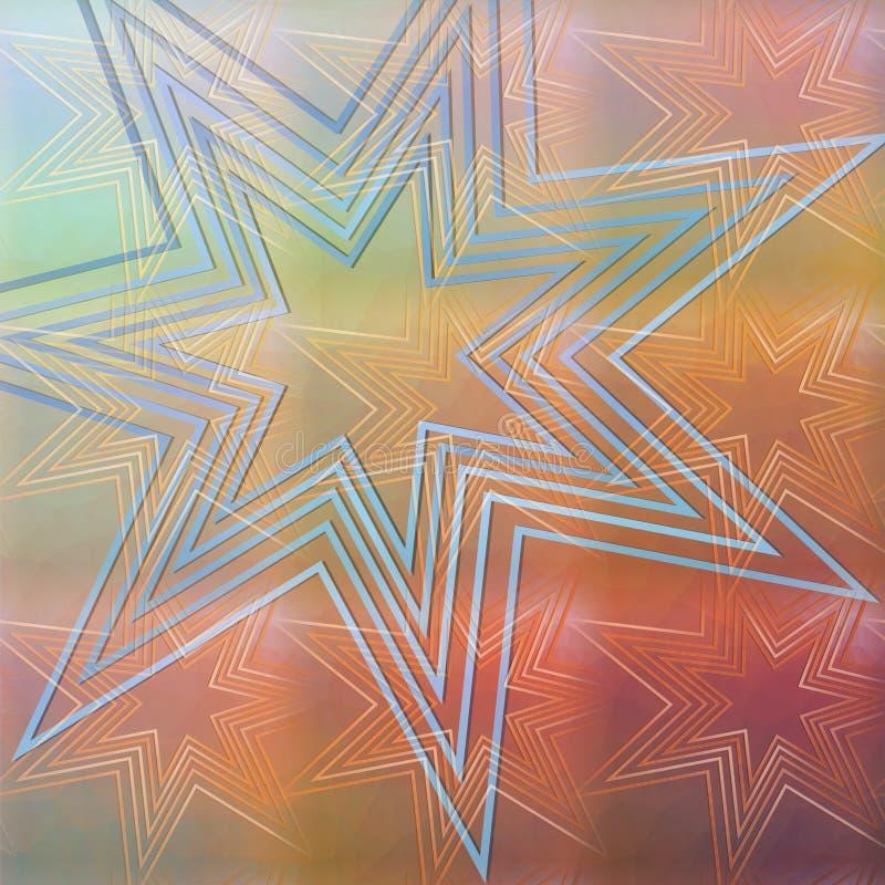 Fond abstrait moderne avec le motif d'étoile images libres de droits