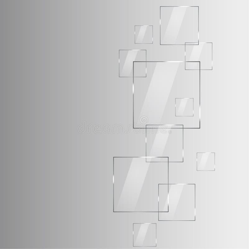 Fond abstrait moderne avec les éléments et l'endroit transparents f illustration de vecteur