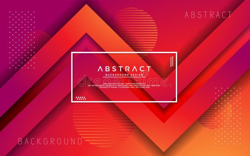 Fond abstrait moderne de gradient de la triangle 3d illustration de vecteur