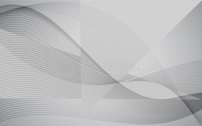 Fond abstrait moderne de vague de vecteur avec la ligne conception Papier peint gris blanc pour le site Web, la brochure, l'affic illustration libre de droits