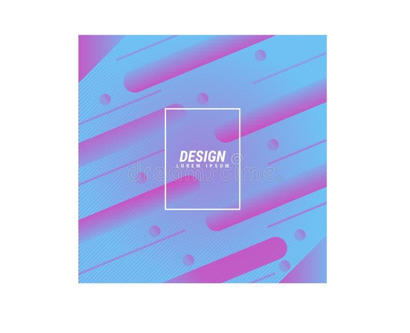 Fond abstrait moderne de vecteur Formes rondes plates avec de diverses couleurs Calibres modernes de vecteur, ligne rose bleue de illustration libre de droits