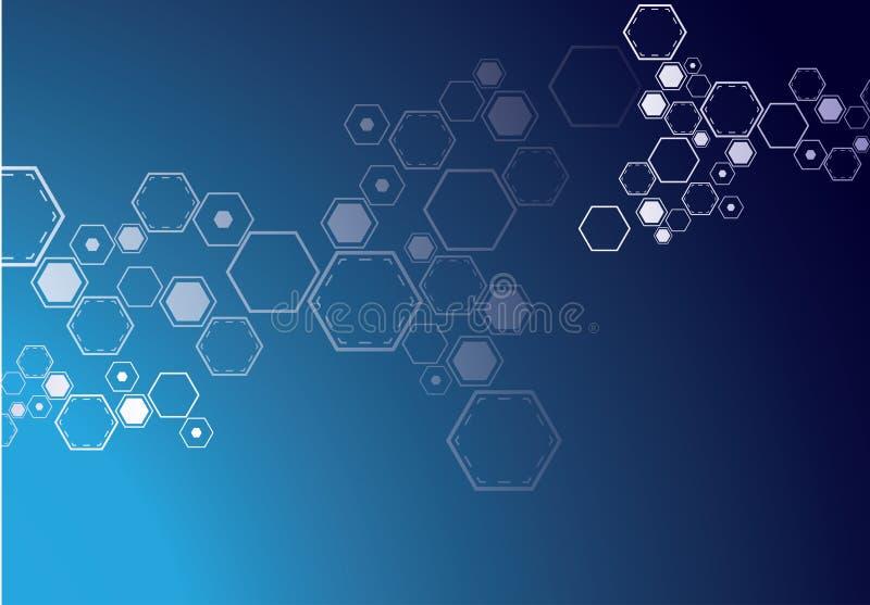 Fond abstrait moléculaire illustration de vecteur