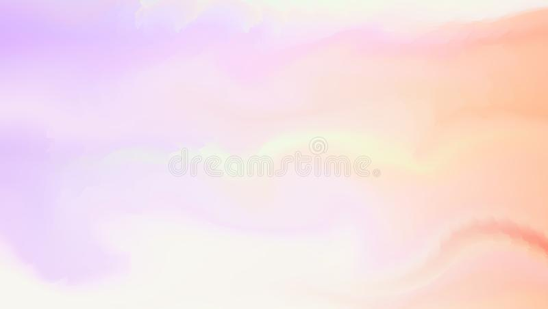 Fond abstrait mou dans le style de couleur d'aqua Peignez le mélange sur l'illustration Resizable et editable extérieure humide d illustration stock