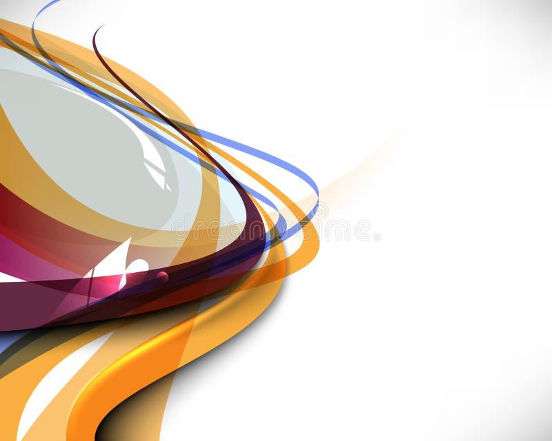 Fond abstrait multicolore de descripteur d'onde illustration stock