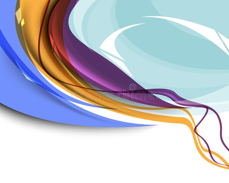 Fond abstrait multicolore de descripteur d'onde illustration libre de droits