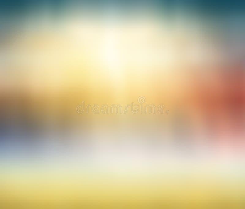 Fond abstrait multicolore de nature de Blured image stock
