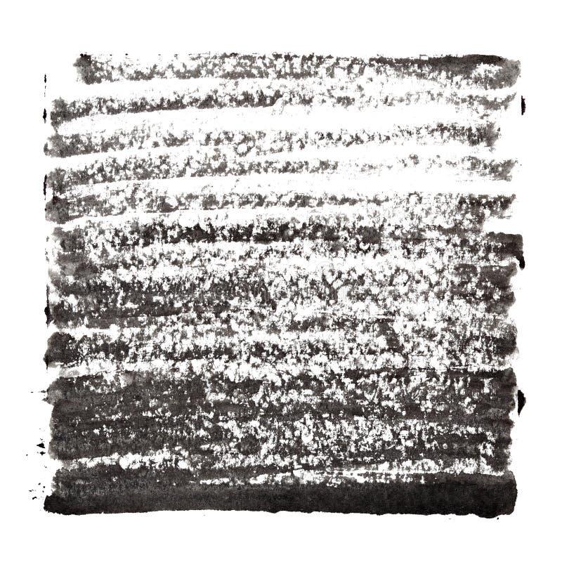 Fond abstrait noir avec les courses épaisses illustration de vecteur
