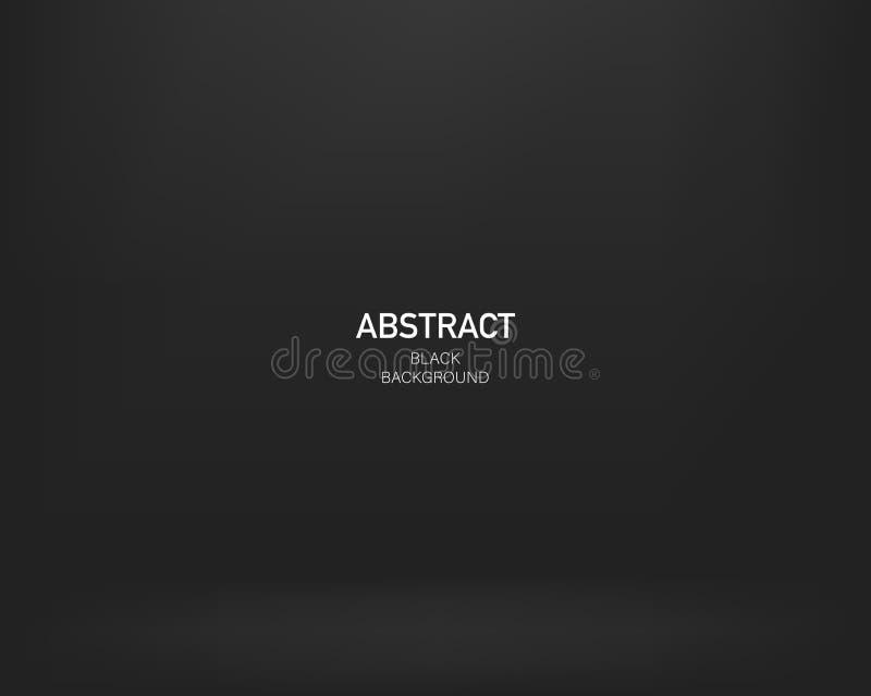Fond abstrait noir Conception de gradient Fond de Darck Vecteur illustration libre de droits