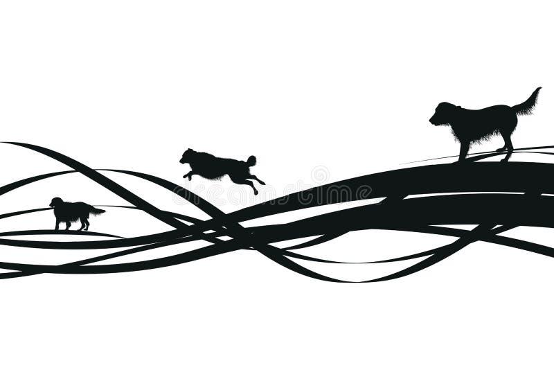 Fond abstrait noir de crabot illustration stock