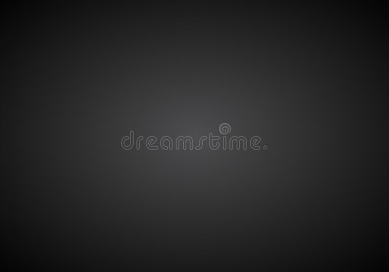 Fond abstrait noir et blanc simple avec l'effet radial de gradient illustration de vecteur