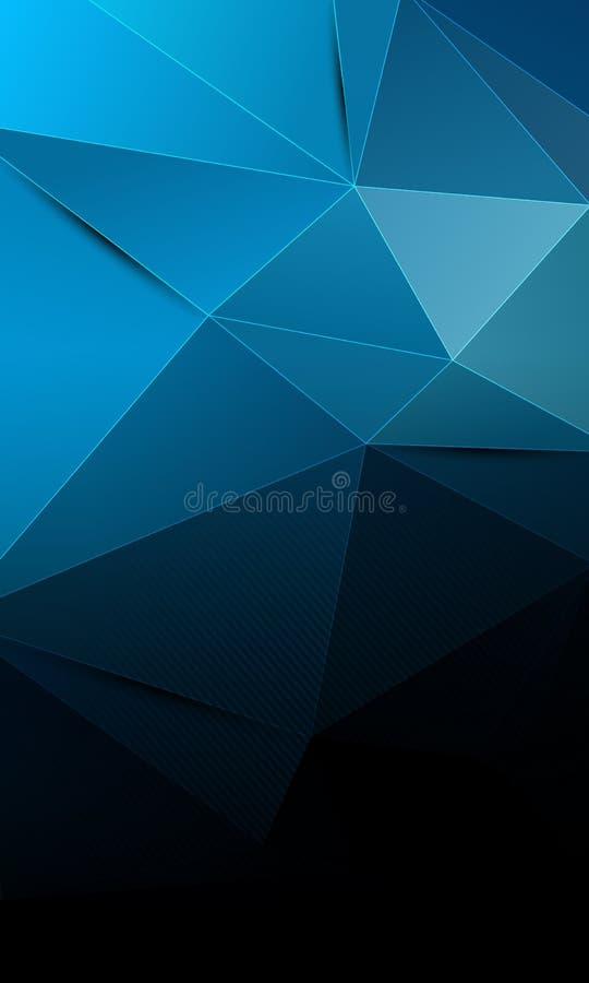 Fond abstrait noir et bleu de technologie illustration libre de droits